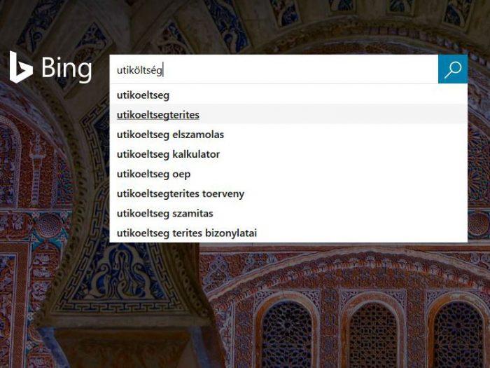 kulcsszó keresési találatok-bing